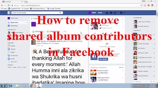How to Remove Shared Album Contributors in Facebook FB Tips 77 thumbnail
