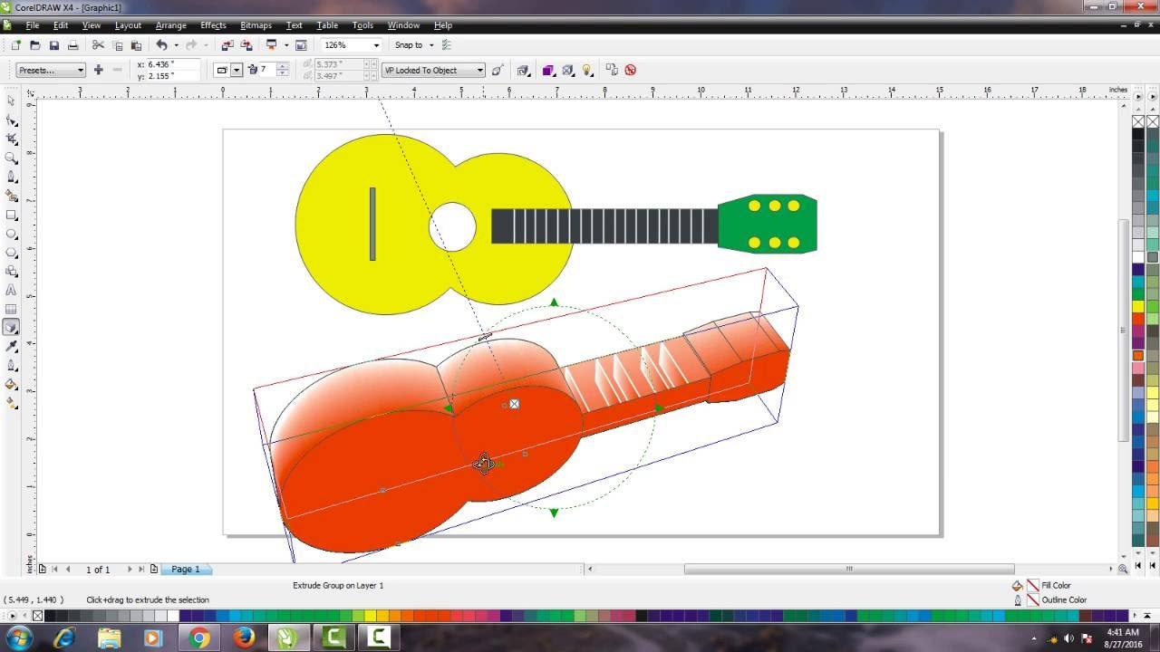 Cara Desain Gitar Dengan CorelDraw X4 Full Version - YouTube
