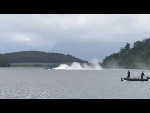 Bluebird jet run up at a Loch Fad
