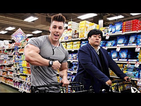 FOOD SHOPPING with Junior Bodybuilder Brandon Harding