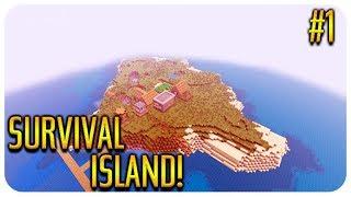 MINECRAFT - SURVIVAL ISLAND - AQUATIC ADVENTURE BEGINS Episode 1