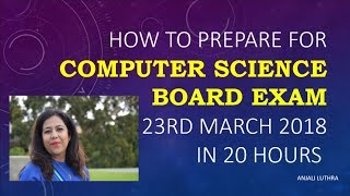Tips & Tricks to prepare for Computer Science Class 12, How to prepare for Computer Science