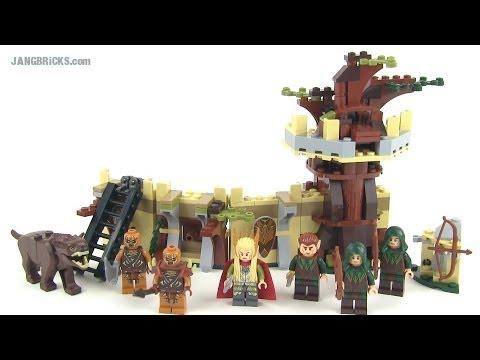Lego Hobbit 79012 Mirkwood Elf Army Set Review Desolation Of Smaug