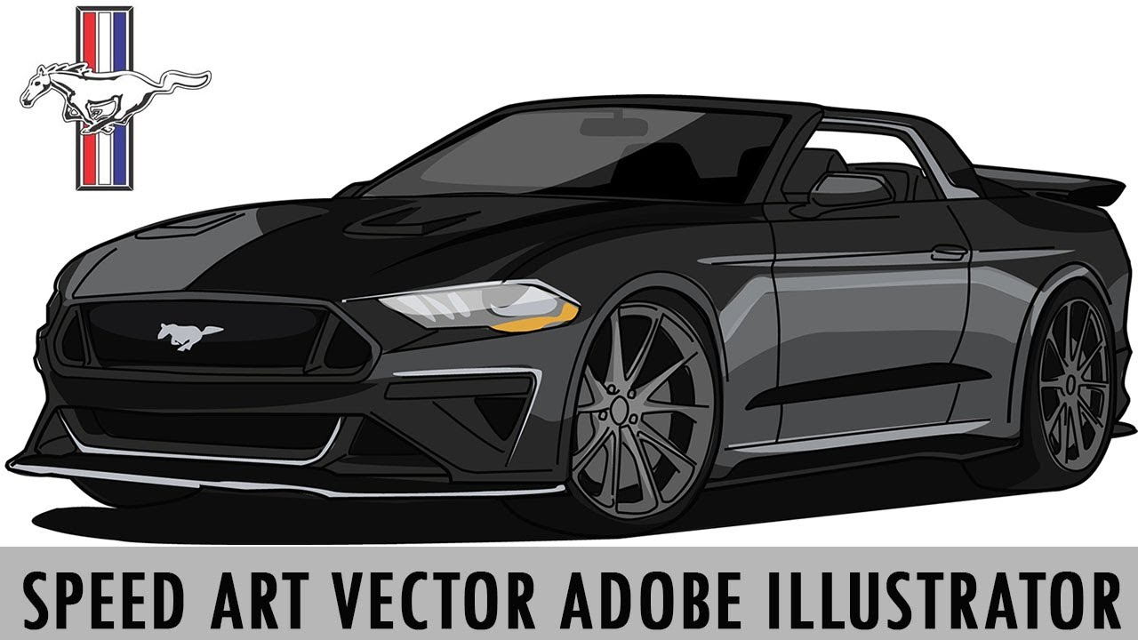 Speed Art Vector MUSTANG | Adobe Illustrator