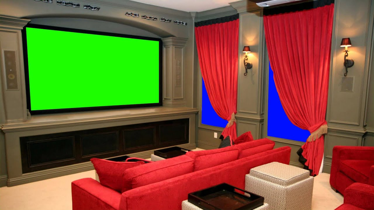 Vip Home Cinema Theater In Green Screen Free Stock Footage