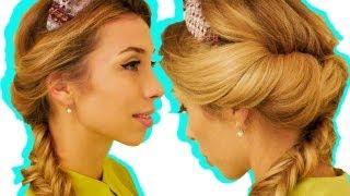 БЫСТРАЯ причёска на КАЖДЫЙ день с повязкой / КОЛОСОК(Hi there! Join me on my: YouTube channel: http://www.youtube.com/user/PolinaRepik ..., 2012-10-31T13:46:54.000Z)