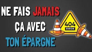 🔴 📊 CEUX QUI FONT CES 5 ERREURS NE POURRONT JAMAIS ÉPARGNER !