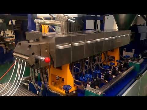 Bio degradable PLA compounding twin screw extruder line