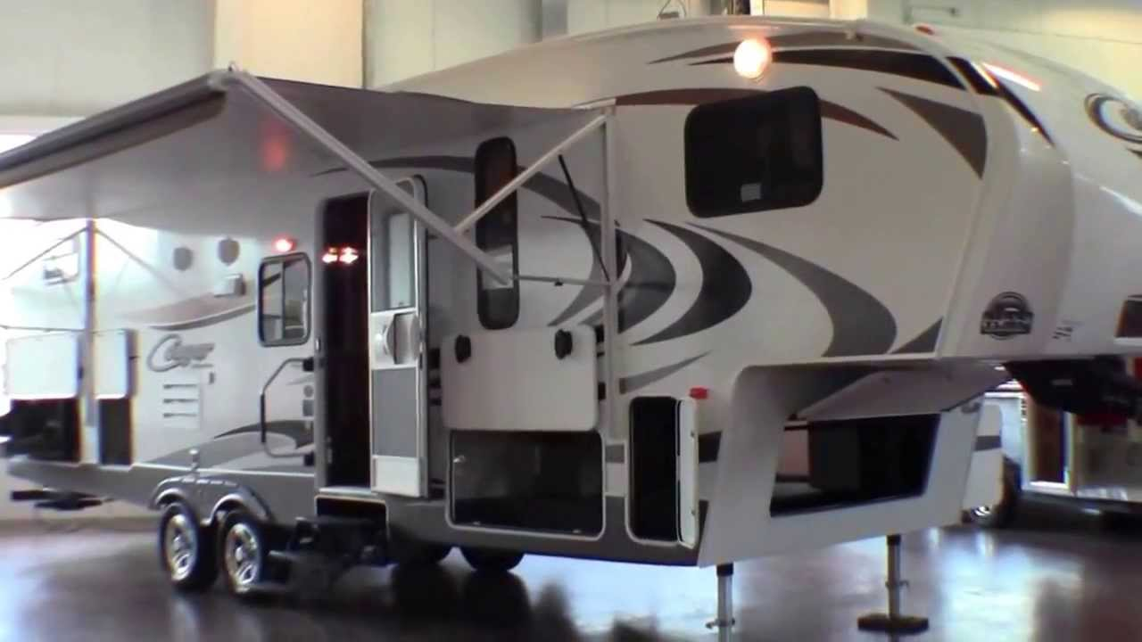 fifth wheel campers with bunkhouse and outdoor kitchen black sink 2014 keystone cougar x lite 28 rdb bunk house outside youtube