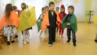 Красивый вход на празднике осени в детском саду Танец с шарфами Средняя группа