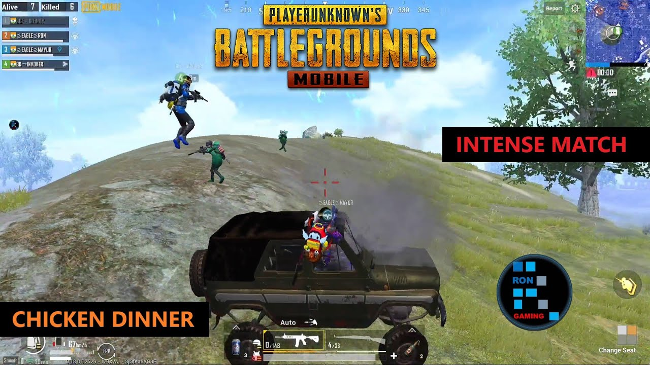 PUBG MOBILE | SUPER INTENSE MATCH CHICKEN DINNER MUST WATCH