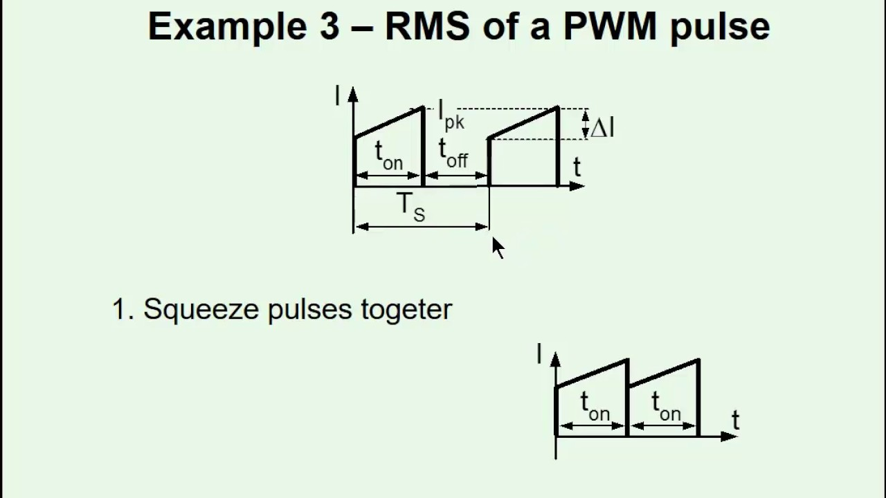 Back of the envelope RMS calculations in power electronics