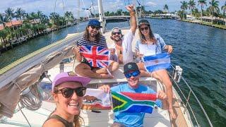 Atlantic Crossing Begins! Capt. Brady at the helm! EP 241