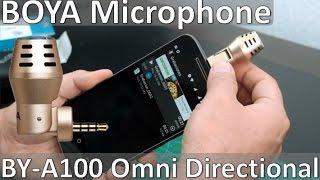 micrfono externo para celular iphone o android boya by a100