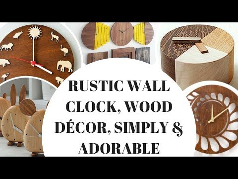 Rustic Wall Clock, Wood Décor, Simply & Adorable!