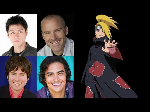 Anime Voice Comparison- Deidara (Naruto)