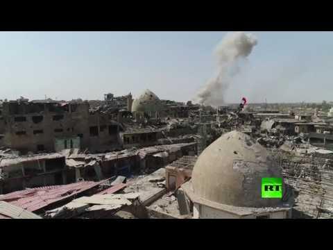 طائرة من دون طيار تصور أحياء الموصل المحررة