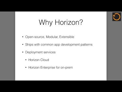 Horizon - An Open Source JavaScript Platform for Building Engaging Apps