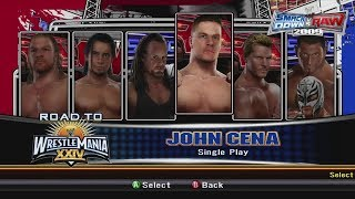 WWE SmackDown vs Raw 2009 - All Character Intros