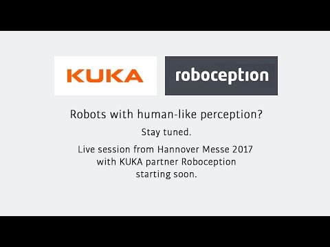 Roboception - Live Demonstration of 3D perception for Robots @ Hannover Messe 2017