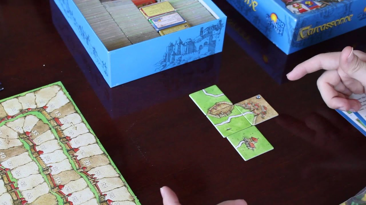 Lets Play Carcassonne Board Game Overview And Rules Youtube
