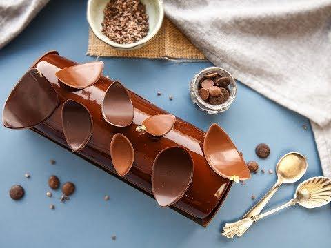 Bûche de Noël au chocolat (1er partie)