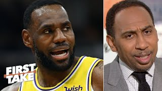 Download lagu Stephen A. congratulates LeBron on being the 2nd-greatest NBA player ever | First Take