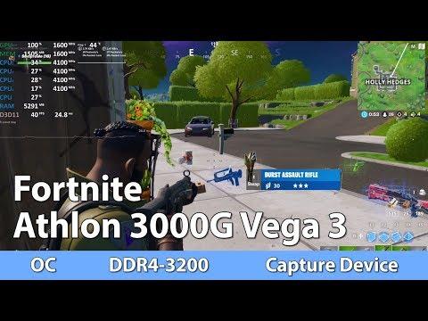 AMD Athlon 3000G Review - Fortnite - iGPU Benchmark Test