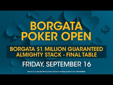 Borgata Poker Open 2016: $1M GTD Almighty Stack Final Table