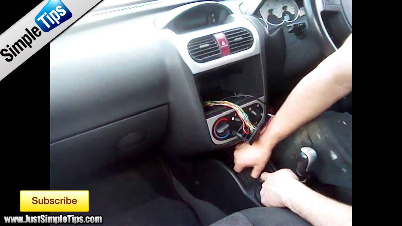 How To Fit A Radio Into Vauxhall Corsa Cd30 2005 2013 C Central Locking Wiring Diagram Justaudiotips Youtube