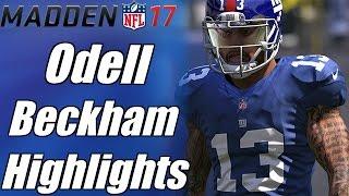 elite odell beckham jr highlights hd   madden 17 mix