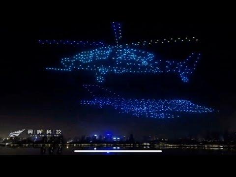 Репетиция светящихся дронов в Ереване накануне 30-летия Независимости Армении