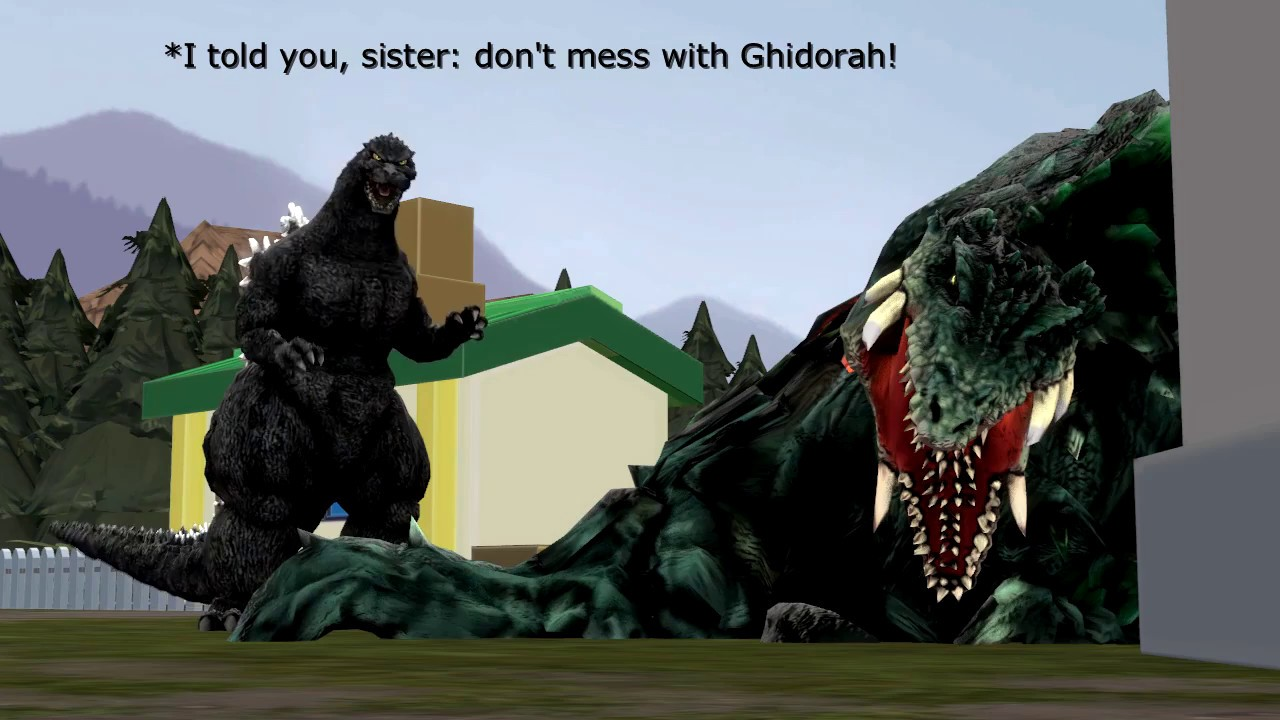 Sfm Fun With New Godzilla Models Youtube