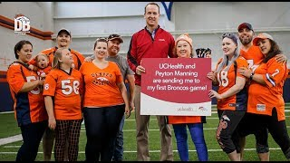 Peyton Manning surprises UCHealth patient with Broncos tickets