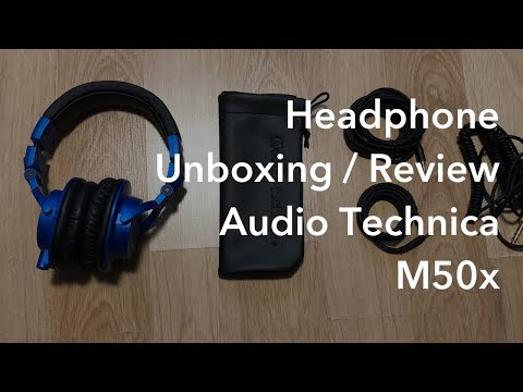 Unboxing And Reviewing The Audio Technica M50x Headphones In Blue