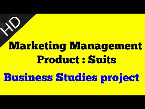 Business Studies Project On Marketing Management On Suits