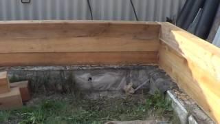 видео Строительство бани из бруса