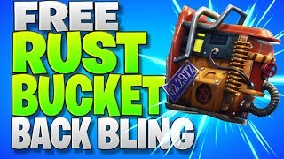 "How To Get A New ""FREE Back Bling"" And Battle Pass Stars! Free ""Rust Bucket Back Bling"" In Fortnite"