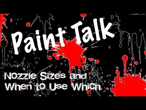 Spray paint tip size chart