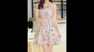 vestidos con estampado floral 2014