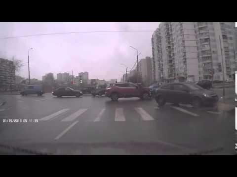 Авария в Москве 01 03 2015