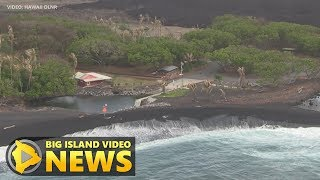 Hawaii Volcano Update - DLNR: New Beaches In Puna (Sept. 18, 2018)