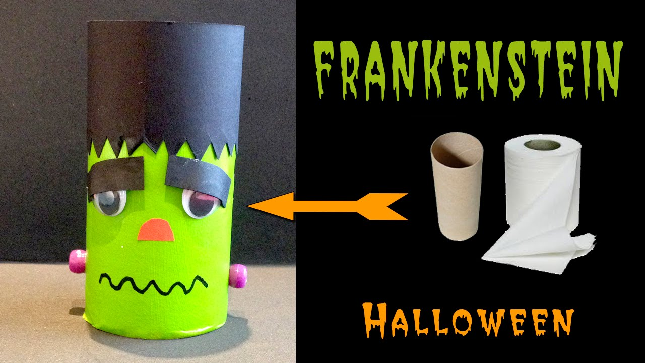 Frankenstein manualidades para halloween youtube - Manualidades para decorar halloween ...