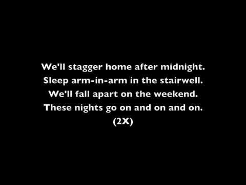 Blink 182 - After Midnight (With Lyrics)