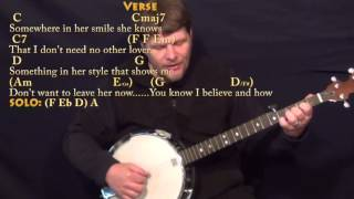 Something (The Beatles) Banjo Cover Lesson with Chords/Lyrics