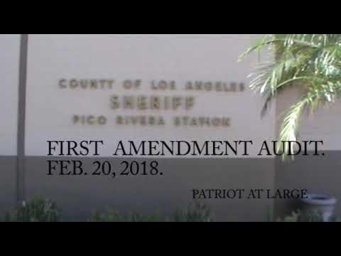 PICO RIVERA, CA. SHERIFF'S OFFICE. FIRST AMENDMENT AUDIT.