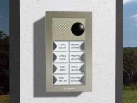 Citofono Esterno Moderno : Doppio citofono a fili terno interno pulsante pulsantiera