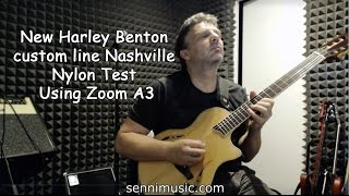 New Harley Benton Custom Line Nashville Nylon Test Using Zoom A3