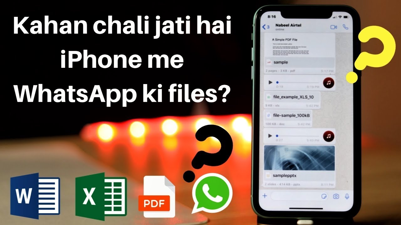 How To Locate Documents Received Via Whatsapp In Iphone Youtube