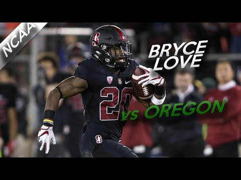 Bryce Love Highlights vs Oregon // 17 Carries for 147 Yards, 2 TDs // 10.14.17
